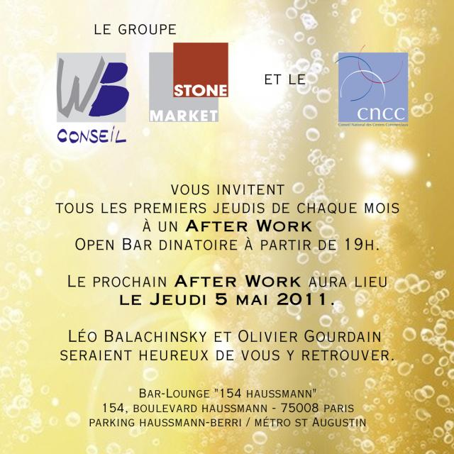 L´After Work de Stone market / WB et CNCC